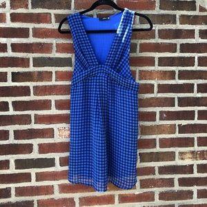 Black and Blue Plaid LF Mini Dress